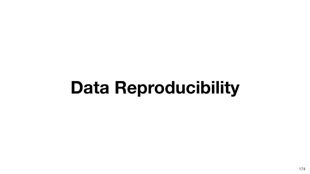 Data Reproducibility 174