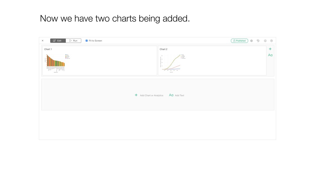 Now we have two charts being added.