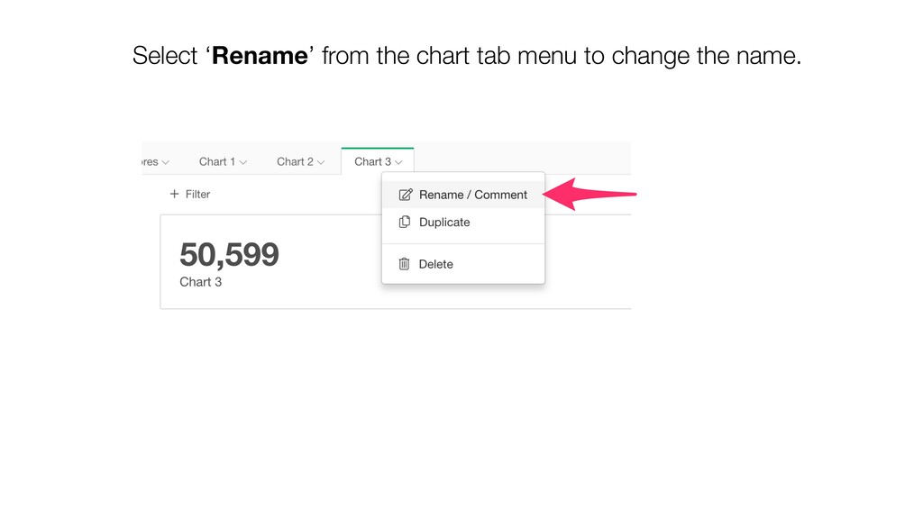 Select 'Rename' from the chart tab menu to chan...