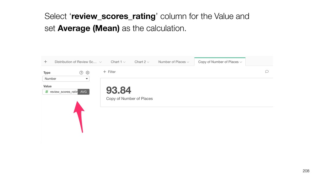 Select 'review_scores_rating' column for the Va...