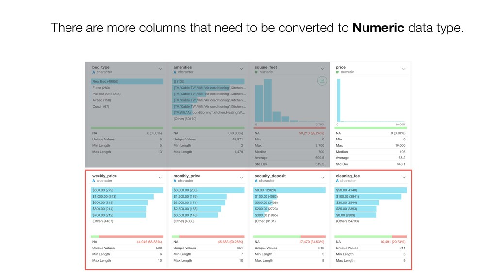 There are more columns that need to be converte...