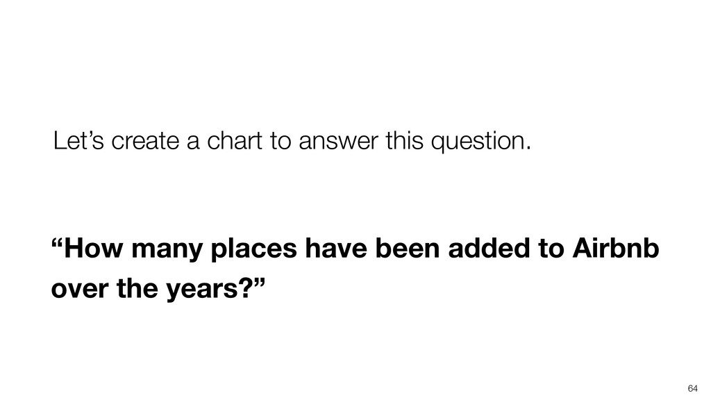 """""""How many places have been added to Airbnb over..."""