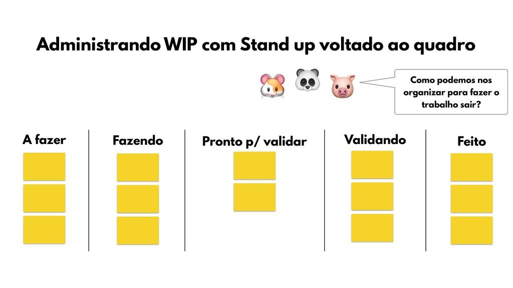 Administrando WIP com Stand up voltado ao quadr...