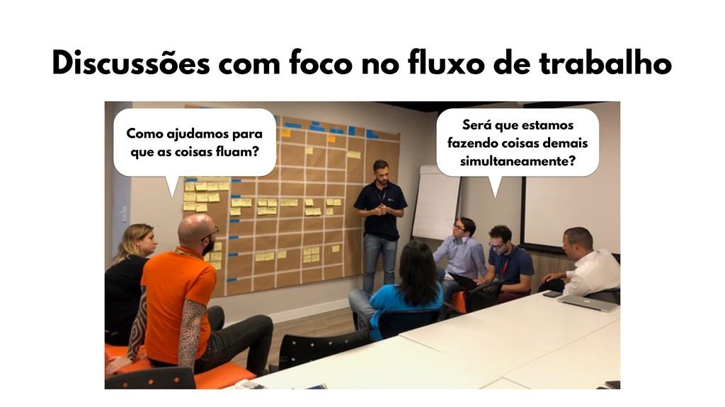 Discussões com foco no fluxo de trabalho Como a...