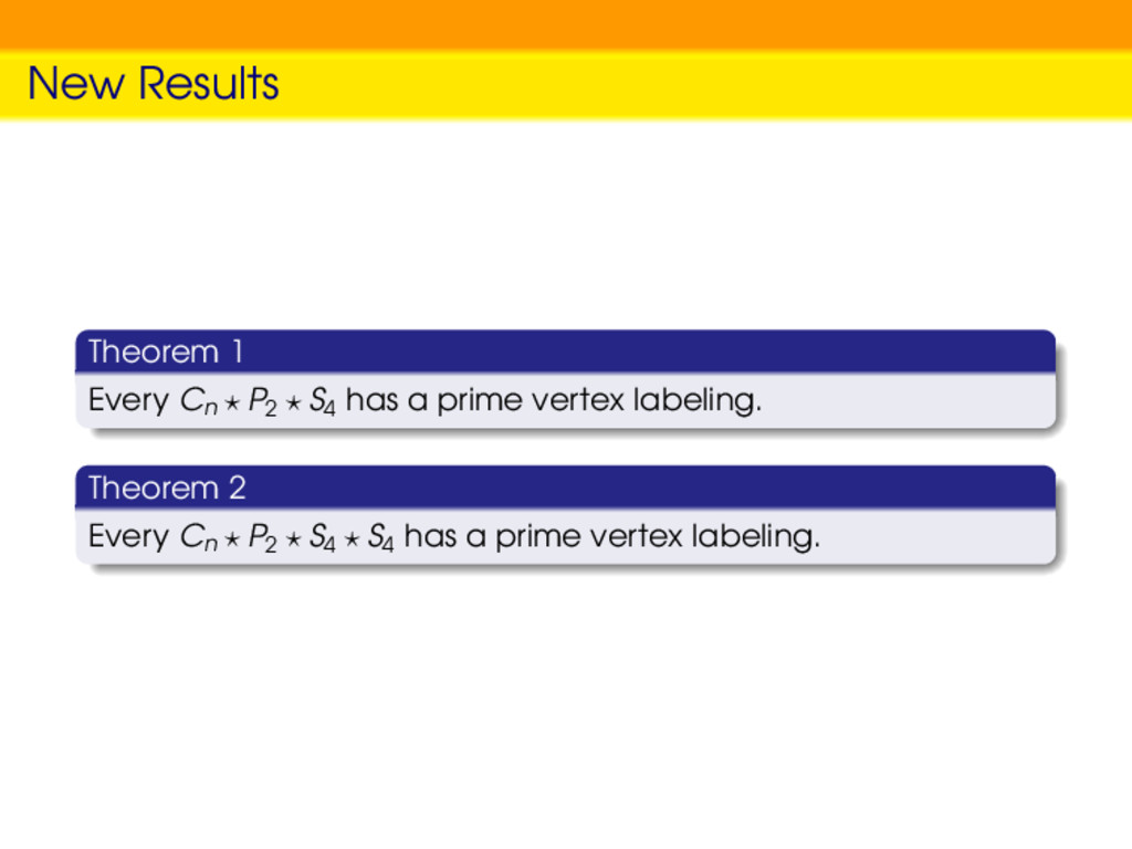New Results Theorem 1 Every Cn P2 S4 has a prim...