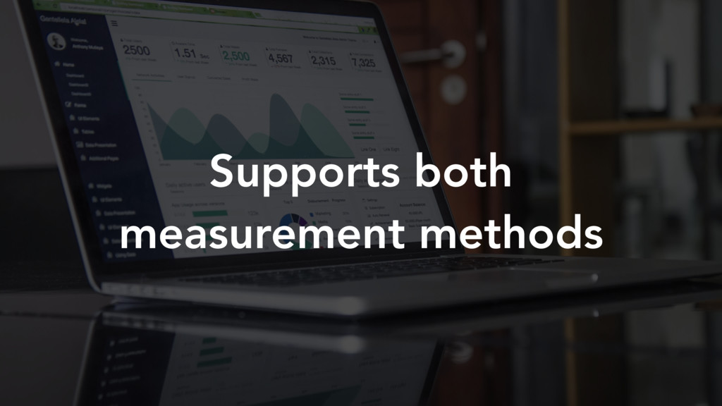 Supports both measurement methods
