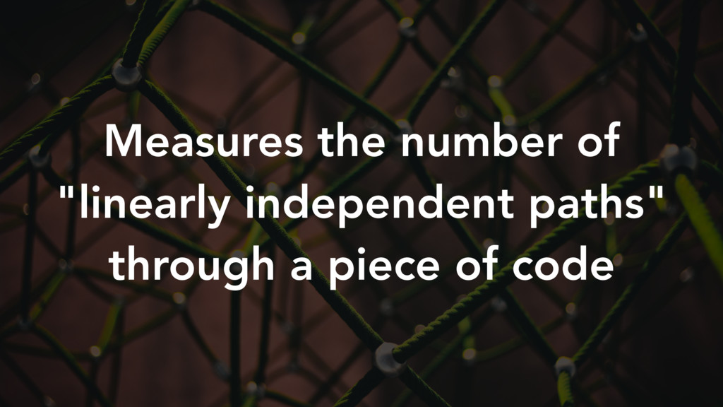 """Measures the number of """"linearly independent pa..."""