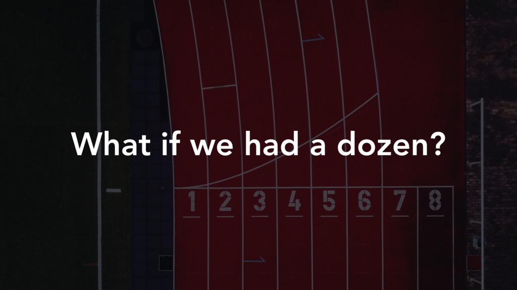 What if we had a dozen?