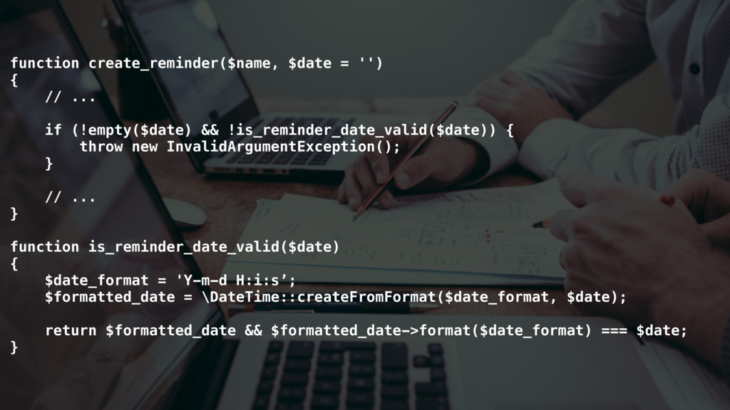 function create_reminder($name, $date = '') { /...