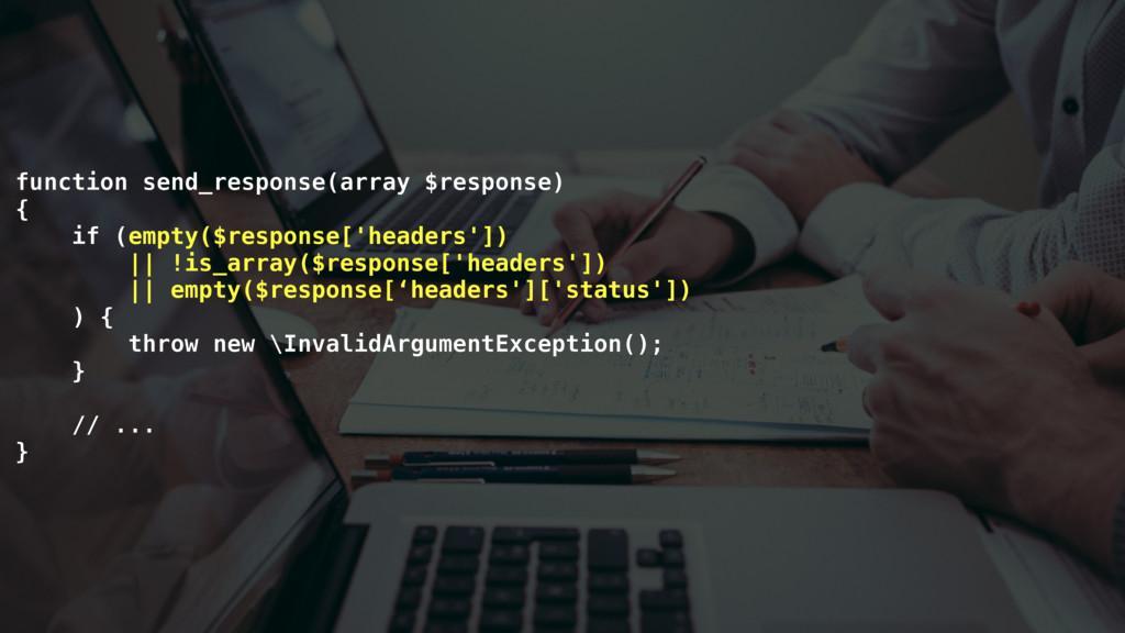function send_response(array $response) { if (e...