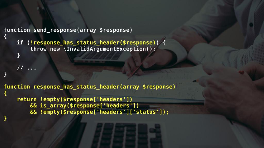 function send_response(array $response) { if (!...