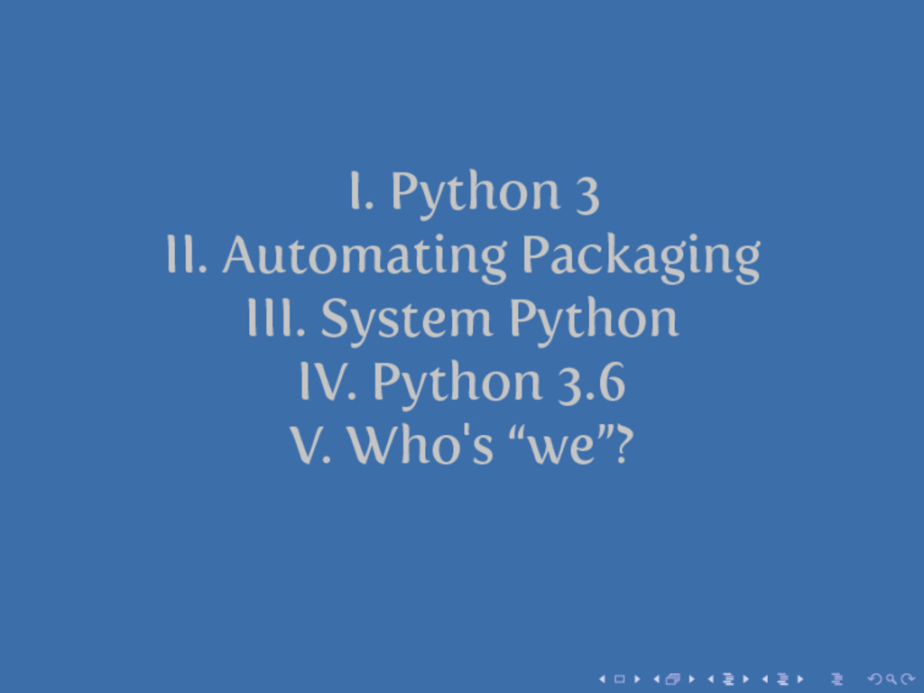 I. Python 3 II. Automating Packaging III. Syste...