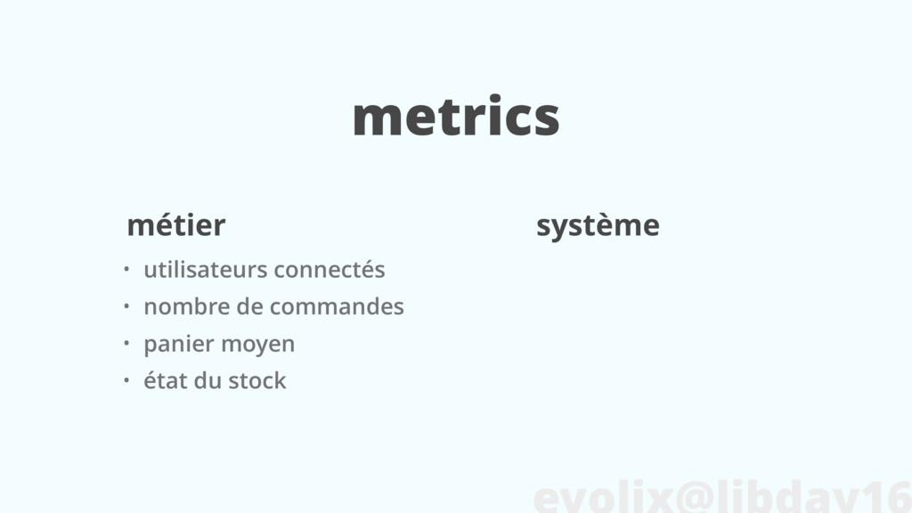 metrics • utilisateurs connectés • nombre de co...