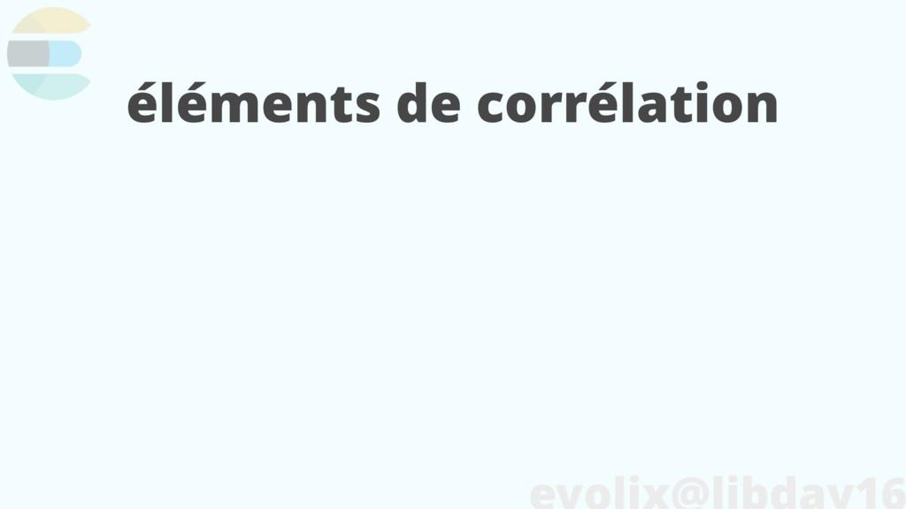 éléments de corrélation