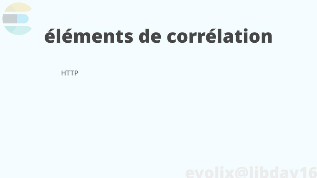 éléments de corrélation HTTP