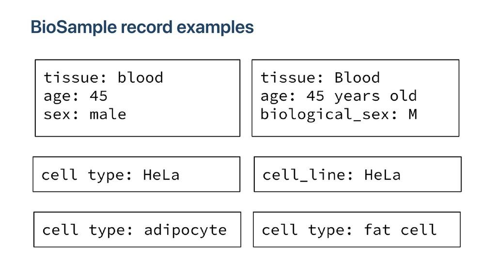BioSample record examples