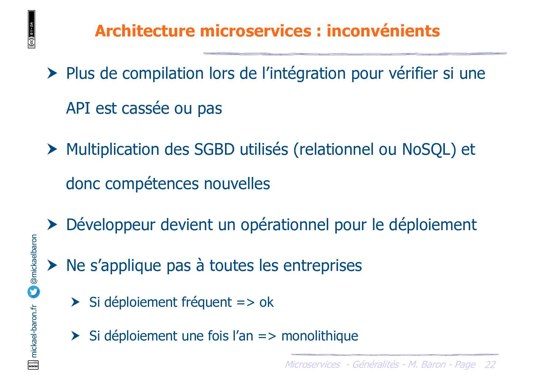Microservices - Généralités - M. Baron - Page m...