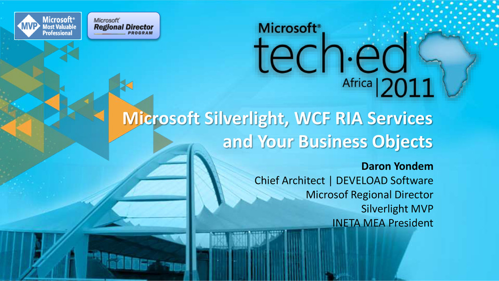 Microsoft Silverlight, WCF RIA Services and You...