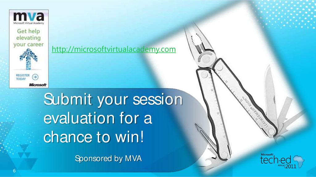 Submit your session evaluation for a chance to ...