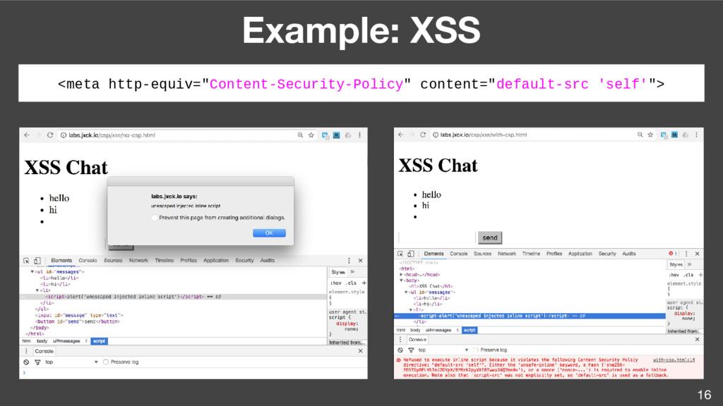 """16 Example: XSS <meta http-equiv=""""Content-Secur..."""