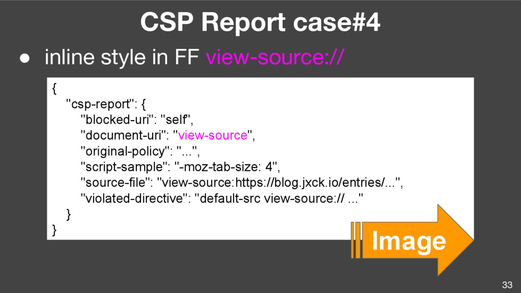 33 CSP Report case#4 ● inline style in FF view-...
