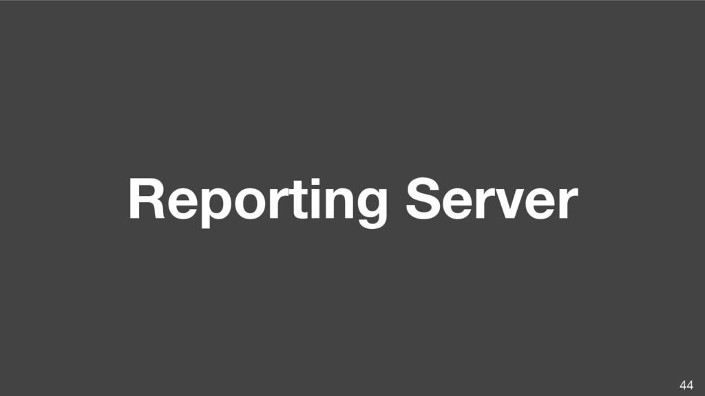 Reporting Server 44
