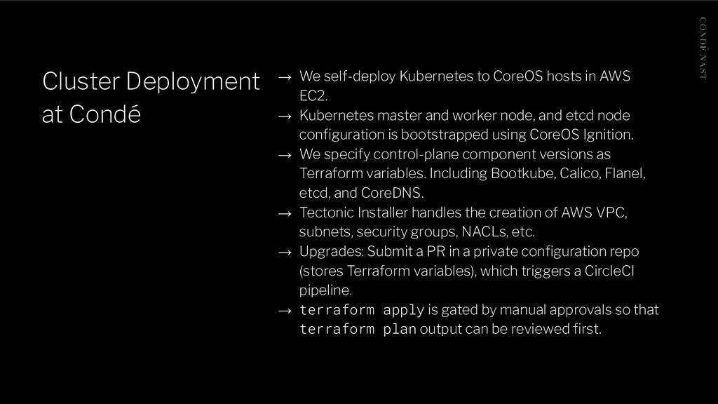 Cluster Deployment at Condé → We self-deploy Ku...