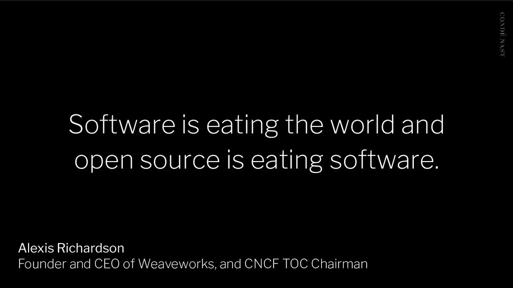 Software is eating the world and open source is...
