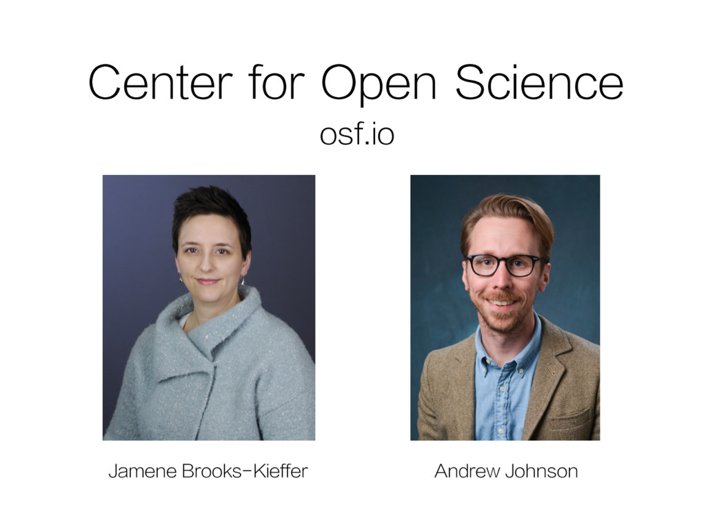 Center for Open Science osf.io Jamene Brooks-Ki...