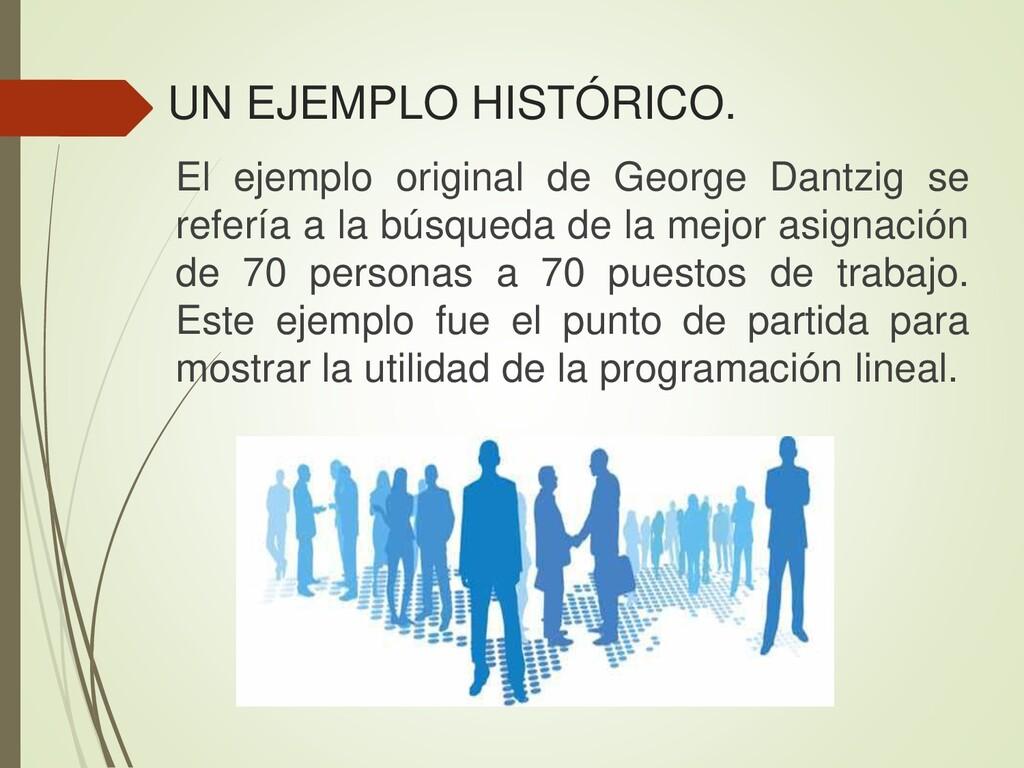 El ejemplo original de George Dantzig se referí...