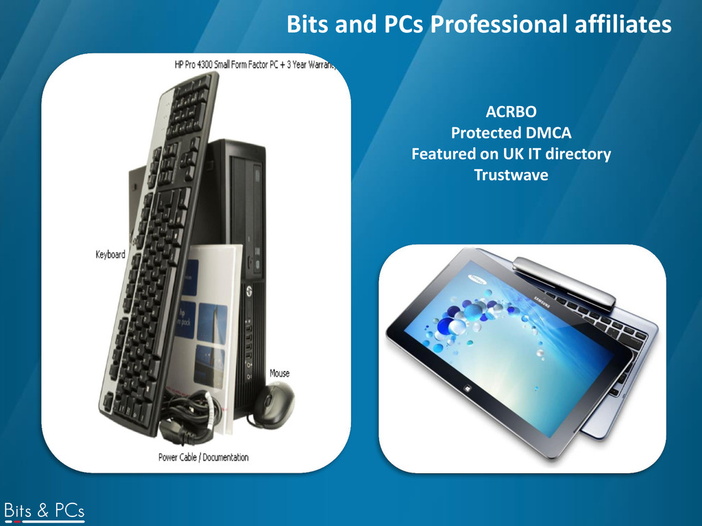 Bits and PCs Professional affiliates ACRBO Prot...