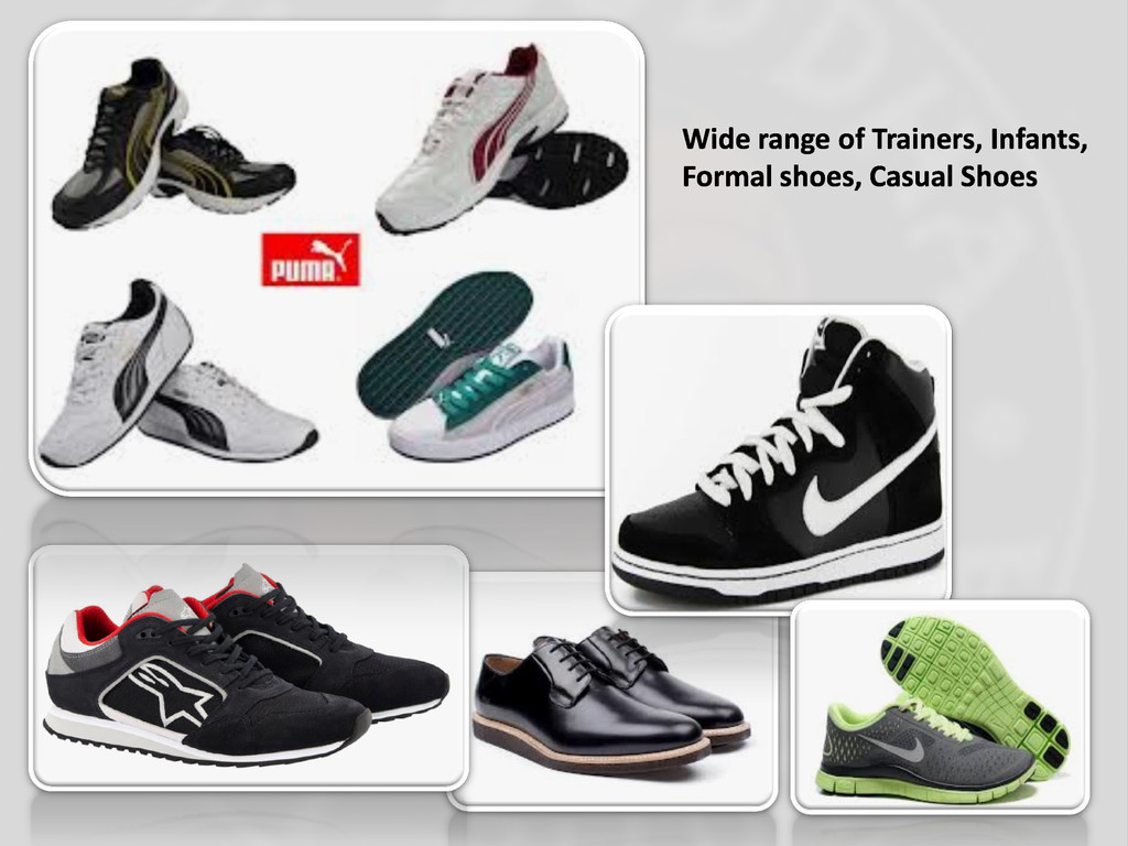 Wide range of Trainers, Infants, Formal shoes, ...
