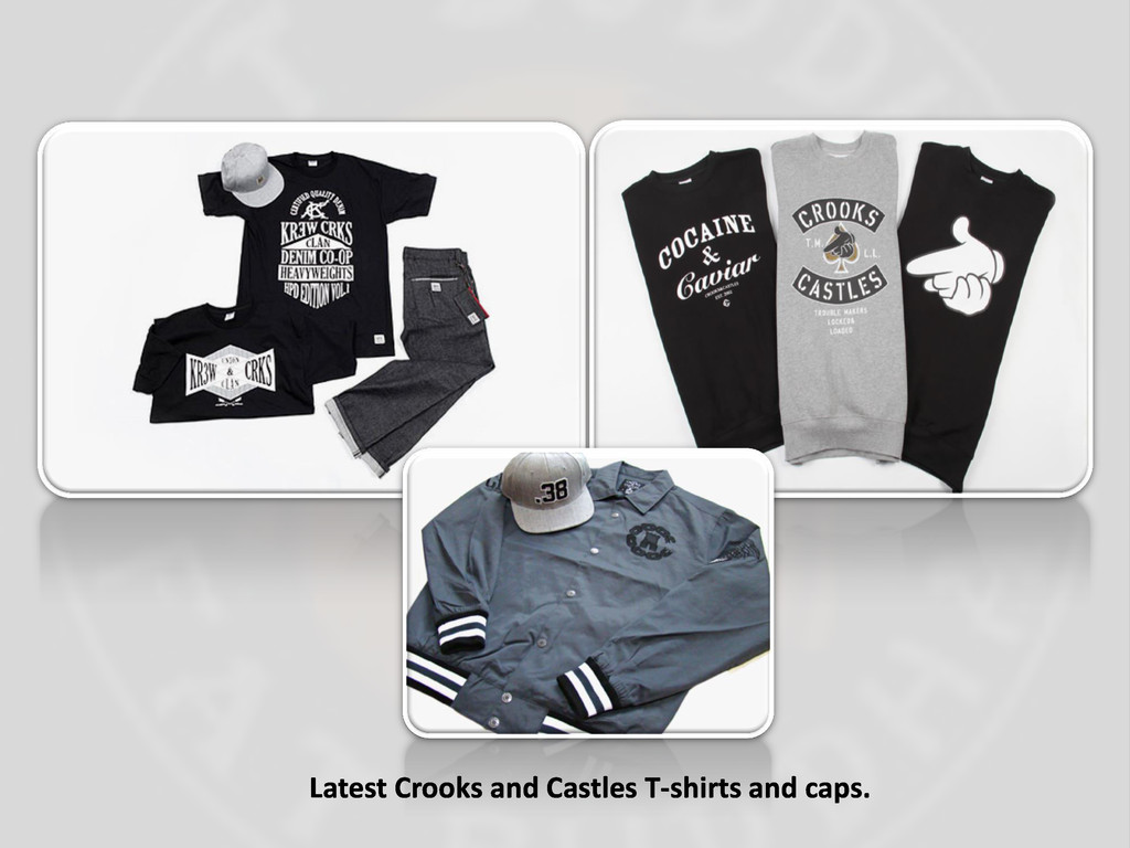 Latest Crooks and Castles T-shirts and caps.