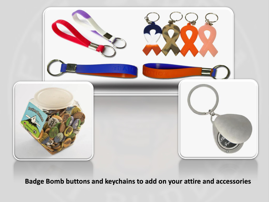 Badge Bomb buttons and keychains to add on your...