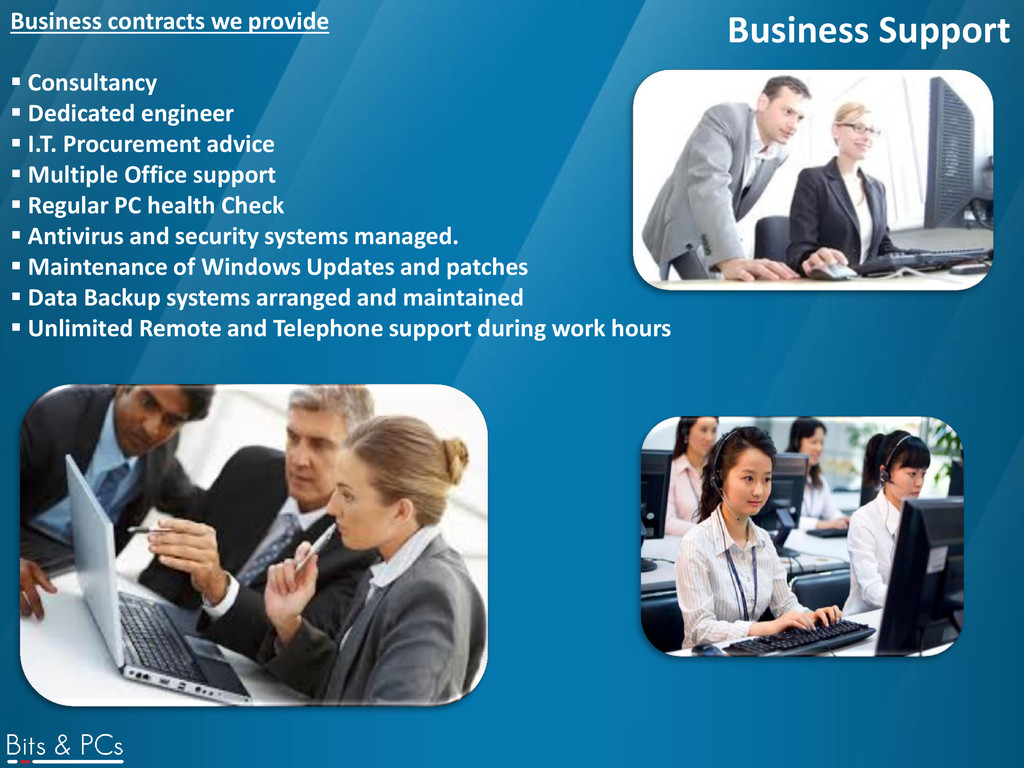 Business Support Business contracts we provide ...