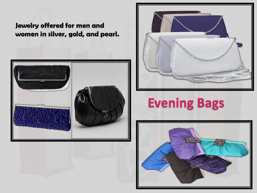 Evening Bags Jewelry offered for men and women ...