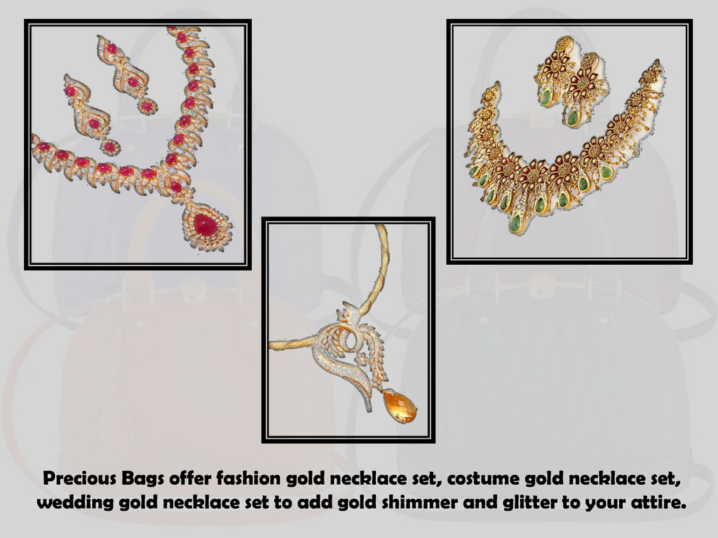 Precious Bags offer fashion gold necklace set, ...