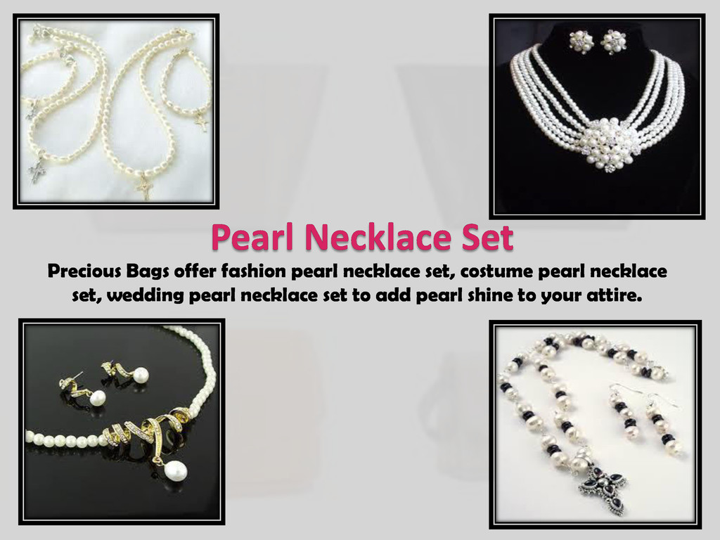 Pearl Necklace Set Precious Bags offer fashion ...