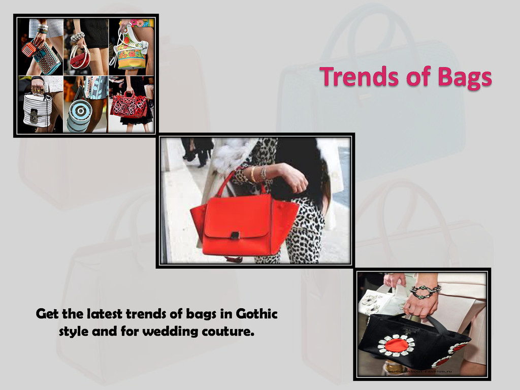 Trends of Bags Get the latest trends of bags in...