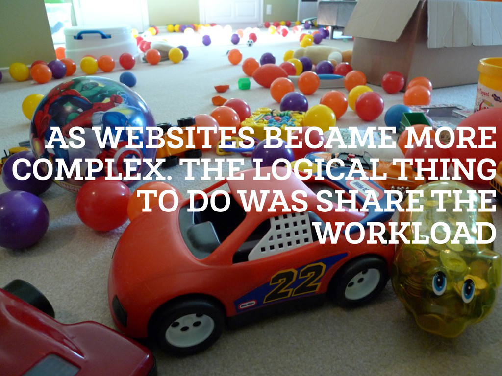 AS WEBSITES BECAME MORE COMPLEX. THE LOGICAL TH...