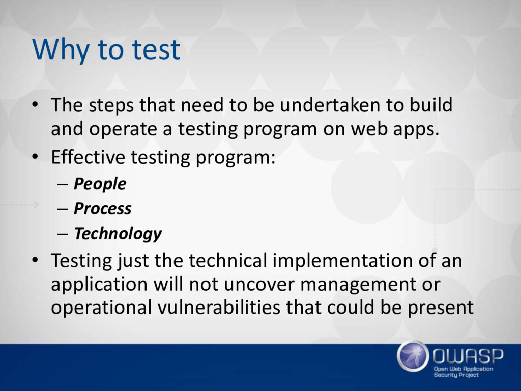 Why to test • The steps that need to be underta...