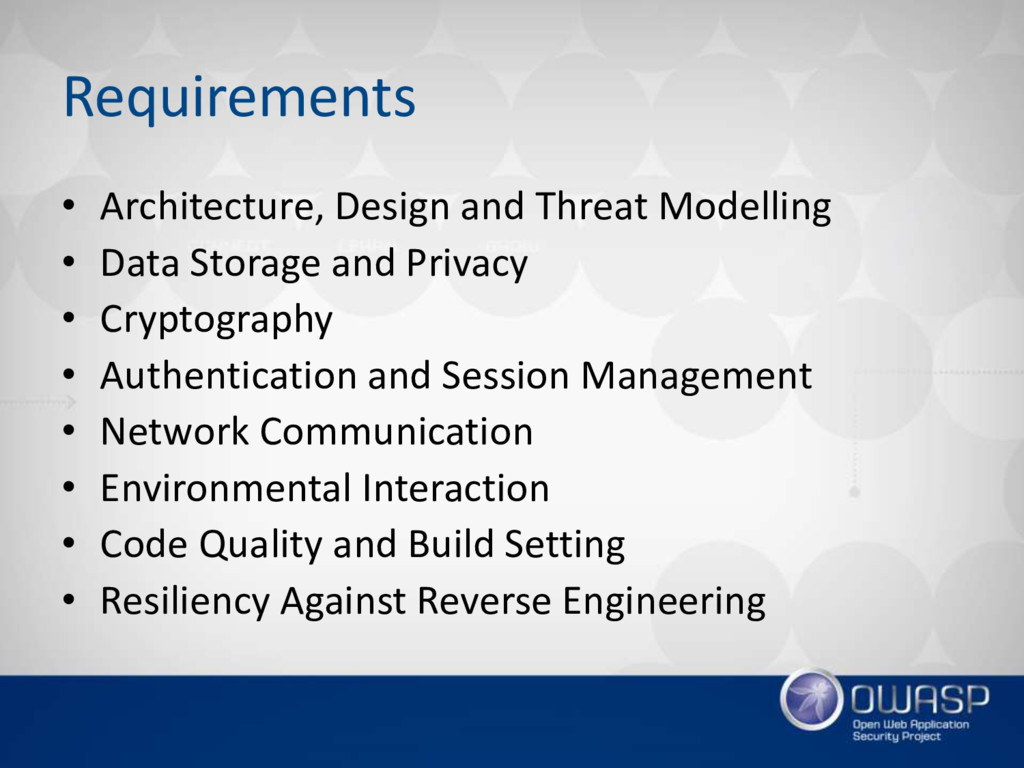 Requirements • Architecture, Design and Threat ...