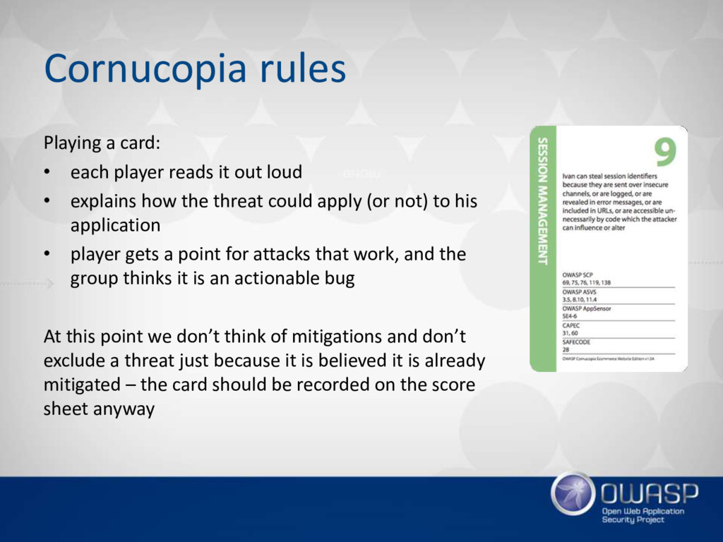 Cornucopia rules Playing a card: • each player ...