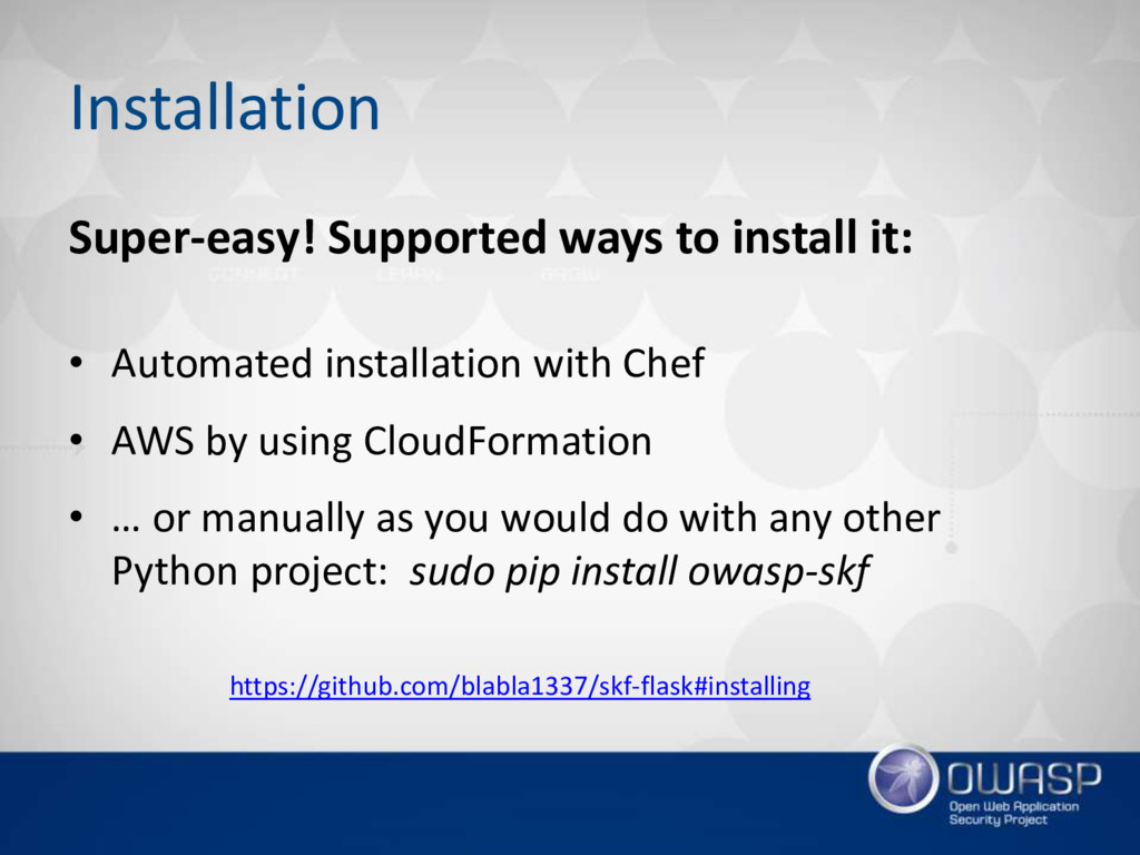 Installation Super-easy! Supported ways to inst...