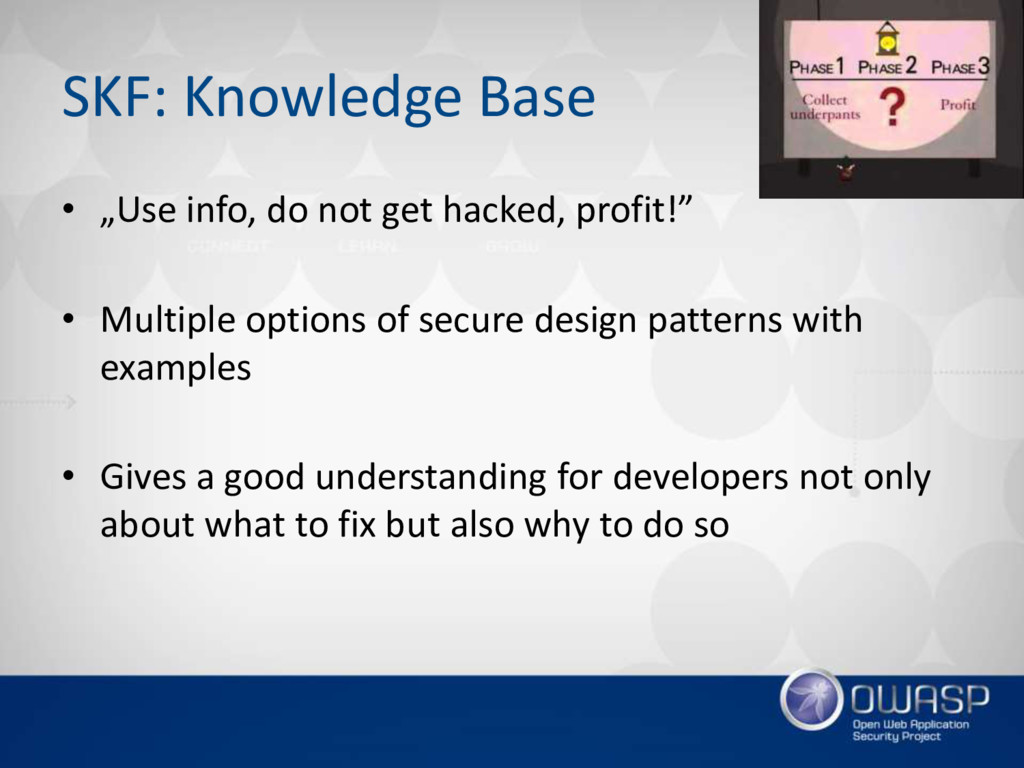 "SKF: Knowledge Base • ""Use info, do not get hac..."
