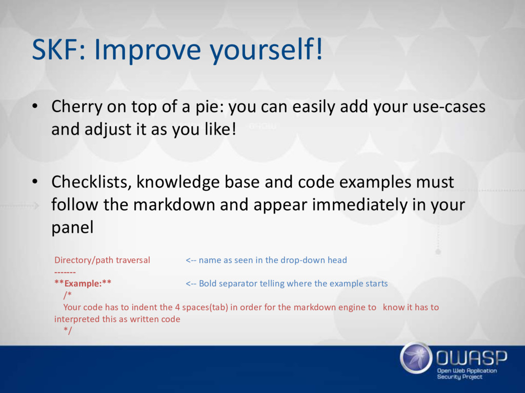 SKF: Improve yourself! • Cherry on top of a pie...