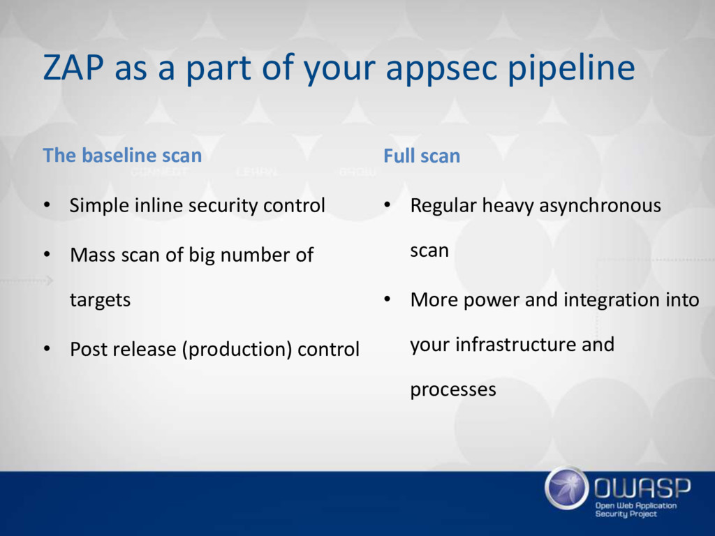 ZAP as a part of your appsec pipeline The basel...