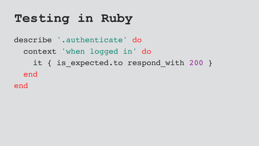 Testing in Ruby describe '.authenticate' do con...