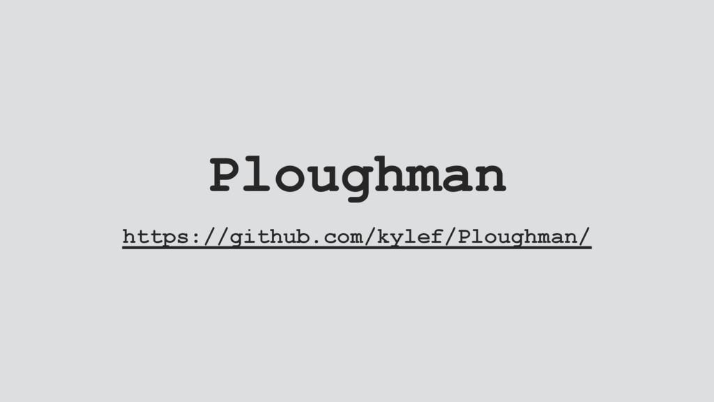 Ploughman https://github.com/kylef/Ploughman/