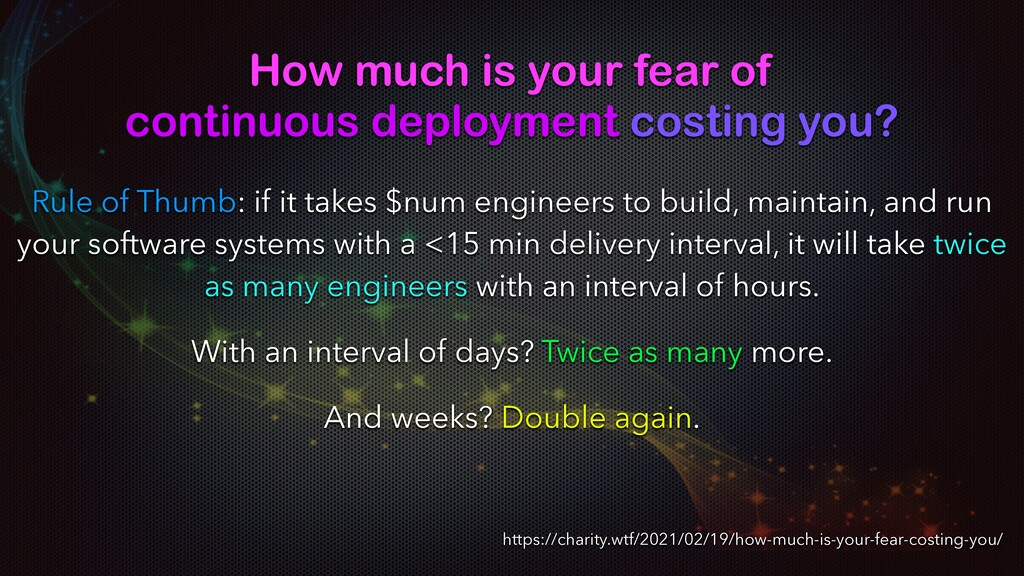 How much is your fear of continuous deployment ...
